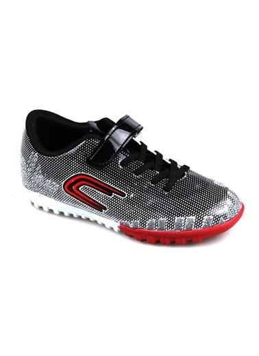 Cool Erkek Çocuk (28-37) Siyah-Beyaz Halı Saha Futbol Ayakkabı Siyah
